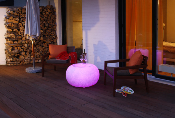 LED Beistelltisch & Sitz moree Bubble Granit - OUTDOOR